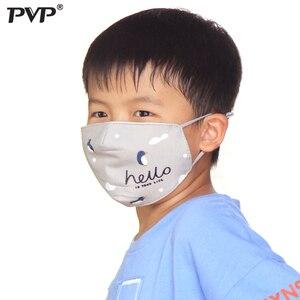 Image 5 - PVP 1 шт хлопок PM2.5 Детская Женская защита от пыли милый Пингвин Принт угольный фильтр ветрозащитные маски + 2 фильтра