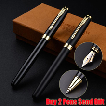Free Shipping Brand Hero 1502 Luxury Metal Fountain Pen PK Sonnet Shape Business Office Writing Pen Buy 2 Pens Send Gift