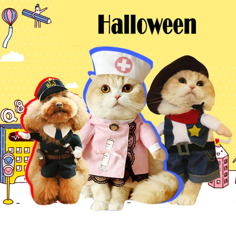 Halloween Dog Costumes Funny Pet Clothes Adjustable Dog Cosplay Costume Sets Novelty Clothing For Medium Large Dogs Bulldog Pug|Dog Coats & Jackets|   - AliExpress