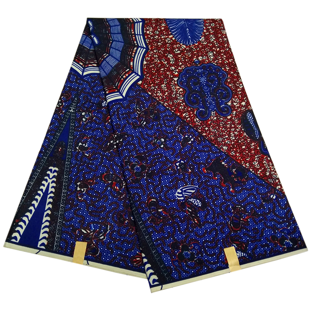2019 New African Spider Print Wax Fabric Guaranteed Dutch Textiles For Lady Dress
