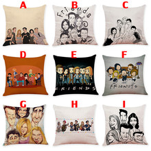 45*45cm American TV Series FRIENDS Cartoon Throw Pillows Cover Pillowcase Sofa Cushion Accessories Friends Christmas Gift(China)