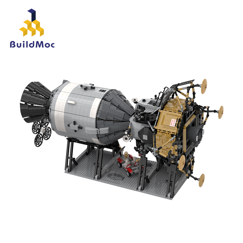 Diy moc blocos de construção compatível com 26457 apollo 11 star wars modelo nave espacial presente aniversário brinquedos para crianças c271
