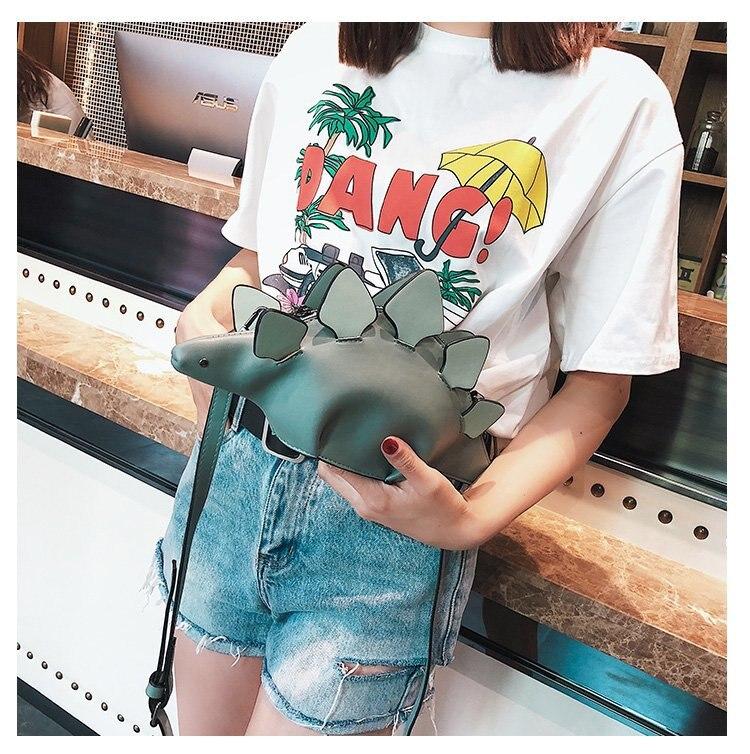 aleta 3d engraçado dinossauro animal mensageiro saco