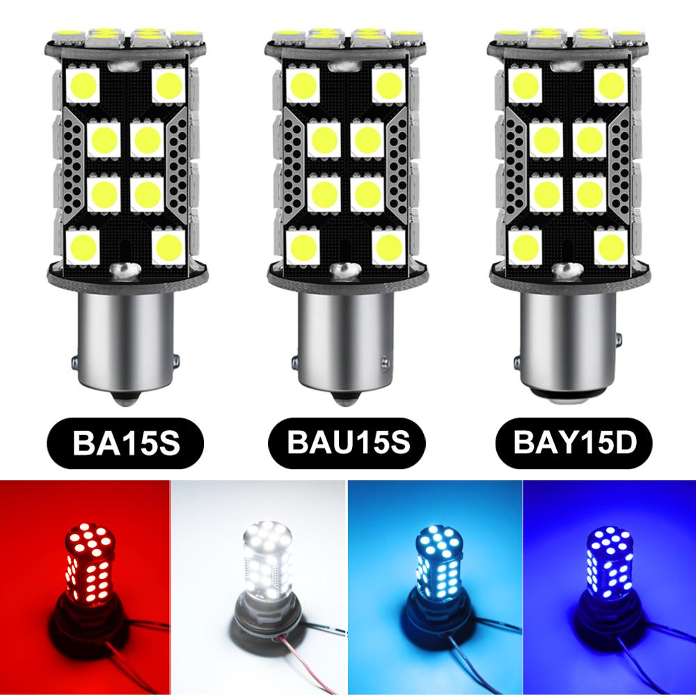 1pcs 1156 <font><b>BA15S</b></font> P21W Led Bulb BAU15S PY21W 1200LM Car Turn Signal Lamp 1157 PY21W BAY15D 40SMD 5050 Chips Auto Lamp Bulbs <font><b>12V</b></font> image