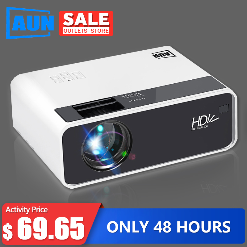 AUN HD Projector D60   1280x720 Resolution MINI LED Video 3D Projector for Full HD Home Cinema.HDMI (Optional Android WIFI D60S) LCD Projectors    - AliExpress
