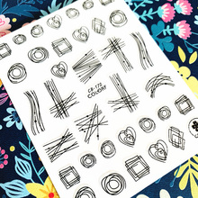 Newest CB  sereis CB-172 Geometry Manicure sticker tool 3d nail art sticker nail decal stamping export japan