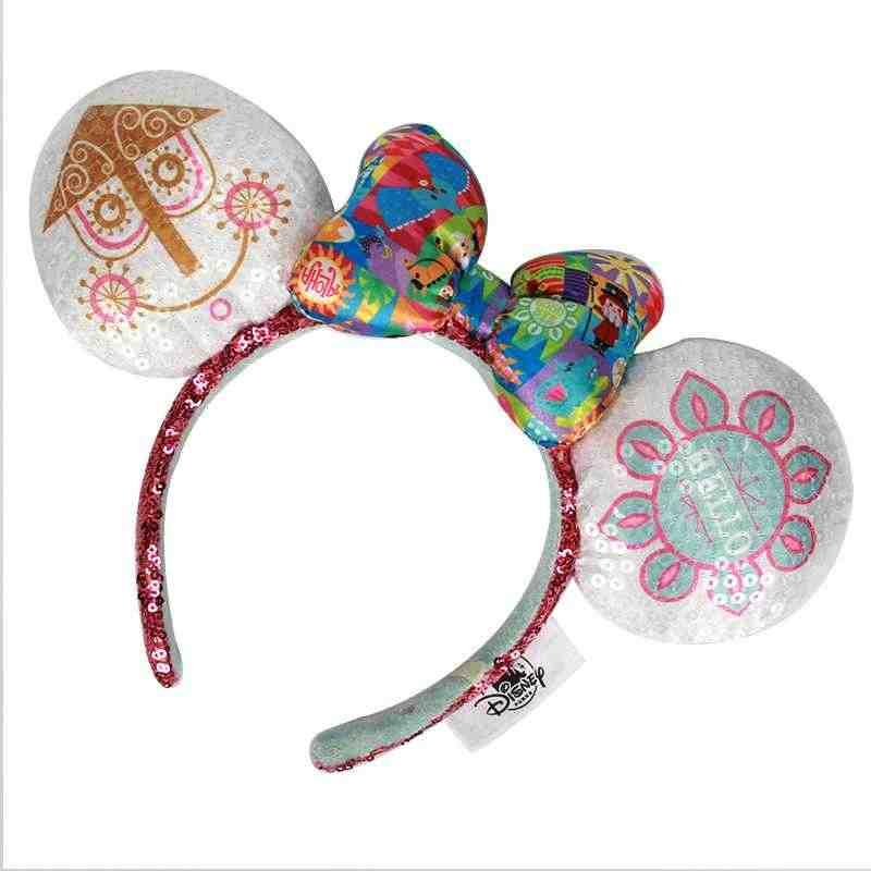 Yeni Minnie mickey pullu mor Aulani altın çiçek nokta Ariel kulaklar kostüm noel kafa bandı Cosplay peluş hediye 24 stilleri