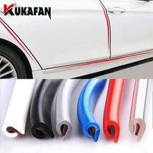 3m/5M/10M araba kapı gezileri kauçuk kenar koruyucu şeritler yan kapı kalıplama yapışkanlı çizik koruyucu araç arabalar için otomobil