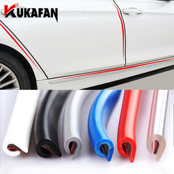 3M/5M/10M Car Door trips Rubber Edge Protective Strips Side Doors Moldings Adhesive Scratch Protector Vehicle For Cars Auto