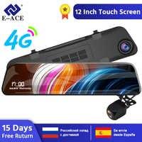 E-ACE Auto Dvr FHD 1080P Rückspiegel 4G Dash Cam Android Kanzler GPS Navigation Dual Objektiv Auto Kamera ADAS Video Recorder