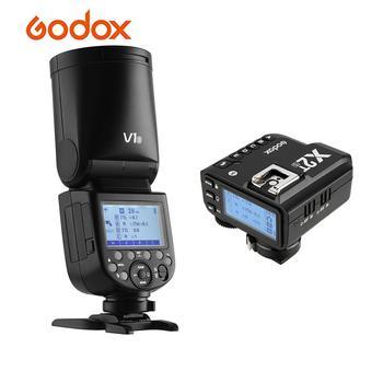 Godox V1S Camera Flash Speedlite Round Head+X2T-S TTL Wireless Flash Trigger for Sony A7RII A58 A9 for Wedding Portrait Studio