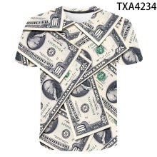 Summer USD U.S. Dollar Dollar Bills Money 3D Printed T Shirts Casual Boy Girl Kids Fashion Streetwear Men Women Children Tops