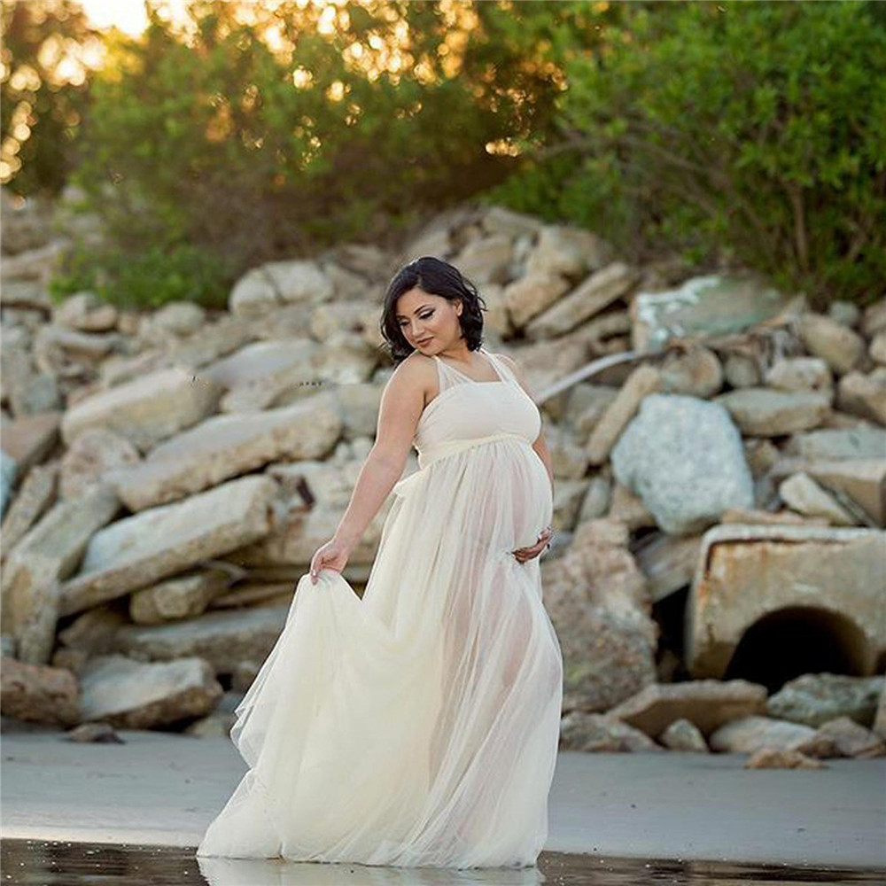 Tulle Sexy Maternity Dresses Photography Props Long Fancy Pregnancy Dress Mesh Pregnant Women Maxi Gown Clothes For Photo Shoots (2)