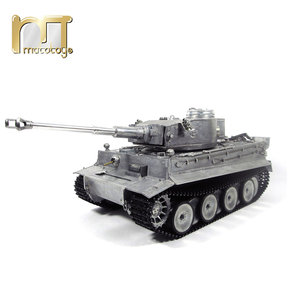 rc 1 16 - MATO 1220 100% Metal 2.4G RC Tank 1 16 German Tiger 1 Infrared Battle Recoil Barrel BB Shooting Airsoft Ready To Run VS Tamiya