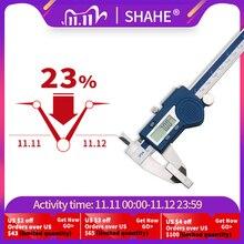 Shahe Pinza 150 millimetri Elettronico Digitale Compasso A Nonio di Micrometro Paquimetro Digital 150 millimetri Pinza In Acciaio Inox