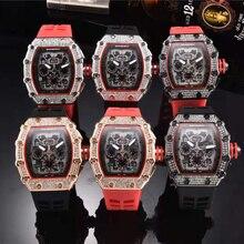 2020 Diamond Skull Men Quartz Watches Luxury Brand Men Sport Watch