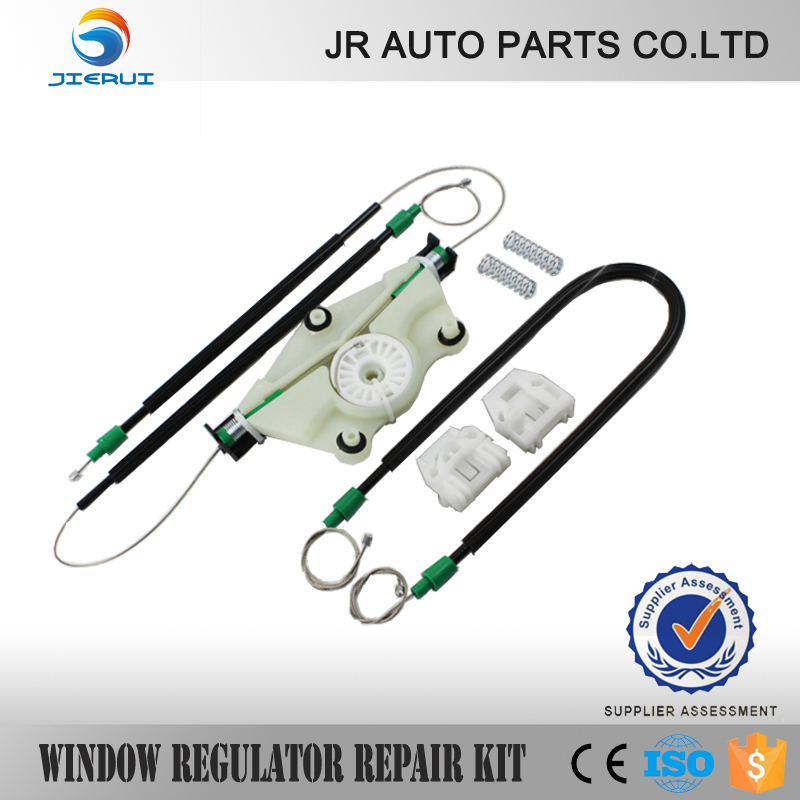 JIERUI  VW NEW BEETLE WINDOW REGULATOR REPAIR KIT FRONT LEFT  CABLE CLIPS  NEW BRAND SET ,ISO9001 FREE SHIPPING