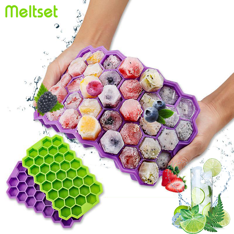 37/160 Grids Ice Cube Mold Honeycomb Shape Square Ice Mould Summer DIY Drinking Tool Cold Drink Whiskey Cocktail  Ice Tray
