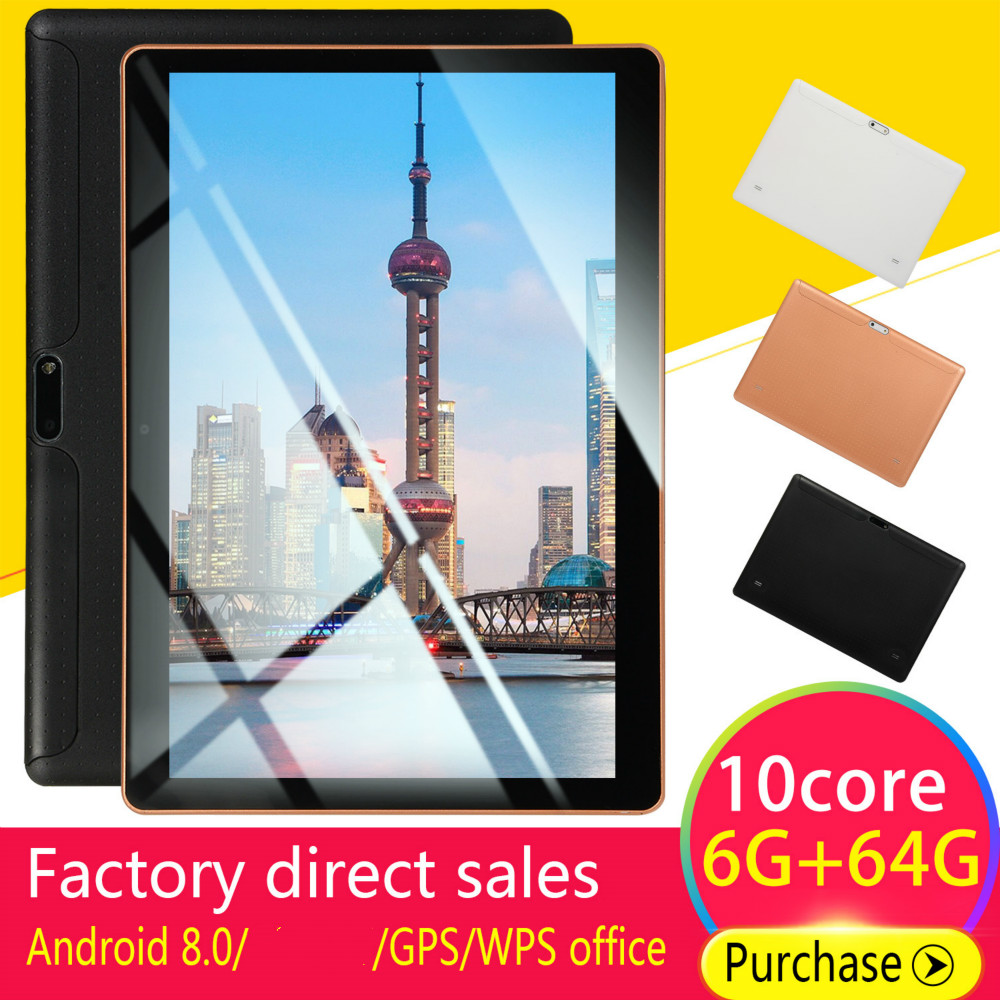 2020 NEW 10 Inch Tablet Pc Octa Core 2019 Original Powerful Android 6GB RAM 128GB Dual SIM Phone Call Tab Phone Pc Tablets