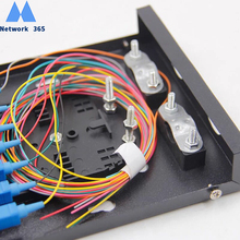 Free Shipping  8 Ports CATV Fiber optical Patch Panel Fiber optic terminal box 8 core Desktop Type SC FPC with adapter pigtail