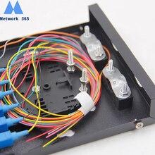 Frete grátis 8 portas catv fibra óptica painel de remendo caixa terminal de fibra óptica 8 núcleo desktop tipo sc fpc com adaptador trança