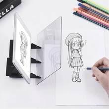 Placa de desenho de imagem óptica lente esboço espelho reflexão escurecimento suporte suporte pintura espelho placa traçando plotter mesa
