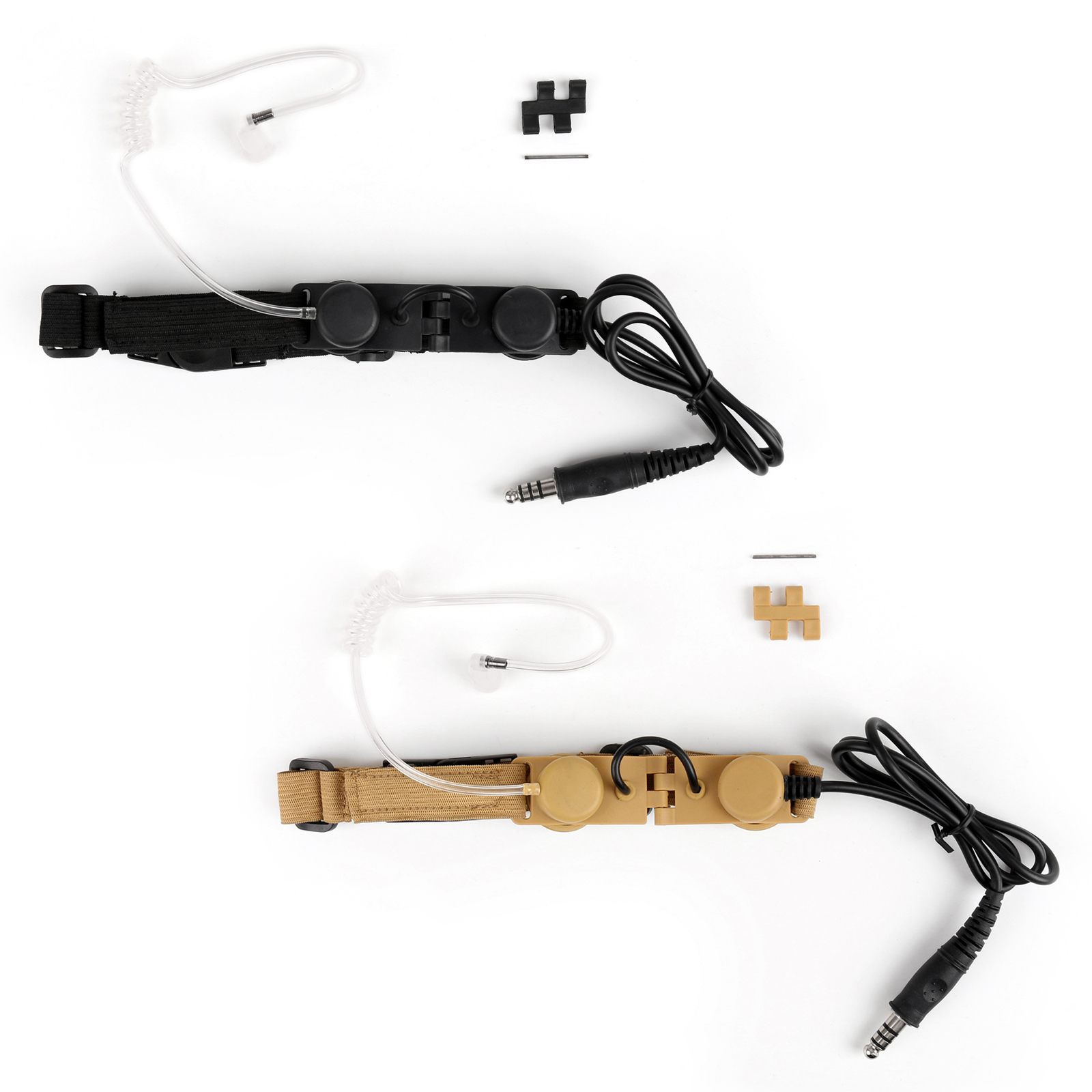 Artudatech Z-Tactical Throat Mic Adjustable Neck Strap Walkie Talkie Headset Headphone