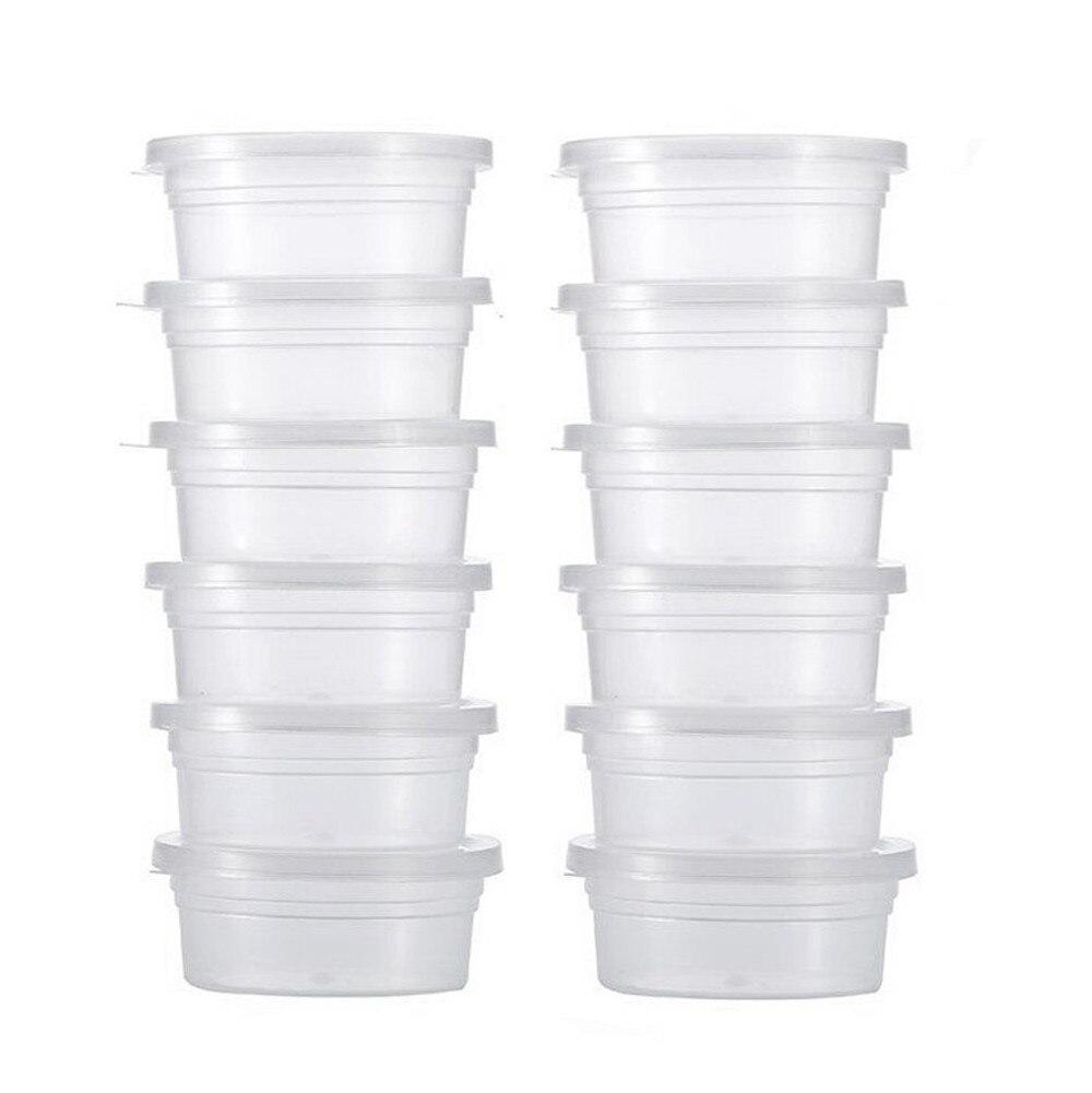 Visual Touch 25 uds. Contenedores de almacenamiento de limo de alta calidad bola de espuma tazas de almacenaje contenedores con tapas pequeños diversos almacenamiento #25