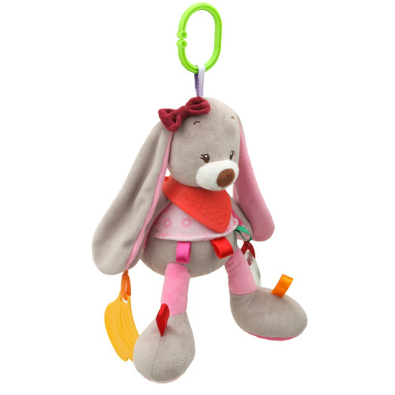 Zhenwei Baby Crib Doll Toy Carriage Hanging Comfort Doll Panda Owl Bunny Toddler Educational Stroller Toys Gift Teeth in Baby Rattles Mobiles from Toys Hobbies