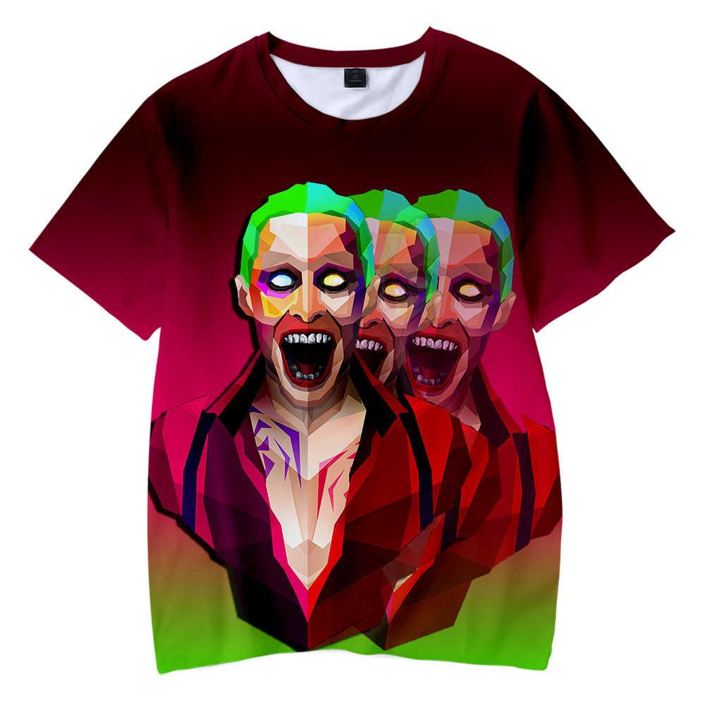2019 футболка с джокером футболка с короткими рукавами для мальчиков и девочек с героями мультфильмов, футболки с короткими рукавами для мальчиков и девочек, Мужская футболка на Хэллоуин, забавная футболка оверсайз в стиле хип-хоп