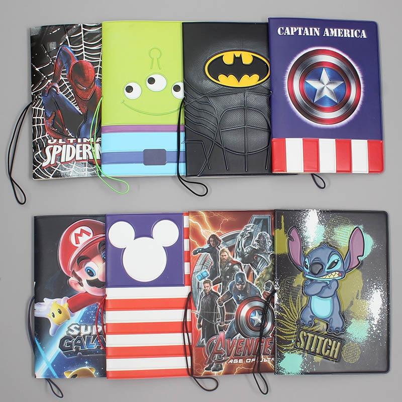 New Super Heros Passport Holders Men/women Travel Passport Cover Bag Pvc Leather 3D Design Cover On The Passport For Travel