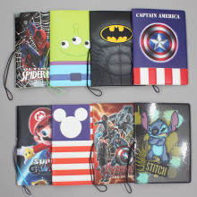New Super Heros Passport Holders Men/women Travel Cover Bag Pvc Leather 3D Design On The For