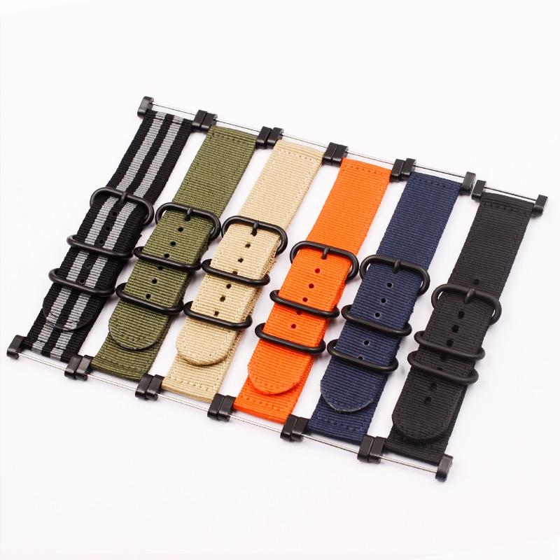 Watch Accessories Nylon Watch Strap Male Suitable for NATO Watch Strap Applicable to SUUNTO 24mm  Strap Multicolor