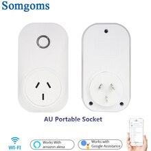 Wifi Smart Power Supply Socket 15A AU Standard Plug Intelligent Timer Socket Electric Tuya Smart Wireless Remote Control Socket