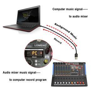Image 3 - LOMOEHO AM 08 4 MONO + 2 สเตอริโอ 8 ช่องBluetooth USBอินเทอร์เฟซคอมพิวเตอร์บันทึก 48V Phantom Professional DJ Mixer