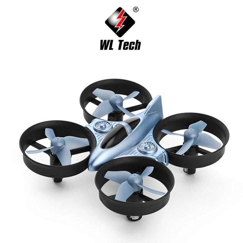 Weili Q808 Small Ducted Electroplated UFO With Headless Mode Remote Control Small Four-axis Unmanned Plane Toy