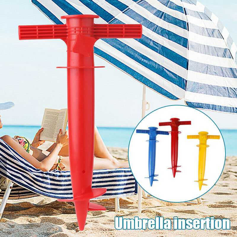 Adjustable Sun Beach Umbrella Stand Spike Fishing Parasol Ground Anchor Holder QJS Shop