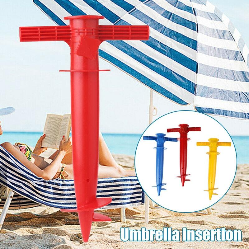 Adjustable Sun Beach Umbrella Stand Spike Fishing Parasol Ground Anchor Holder QJS Shop