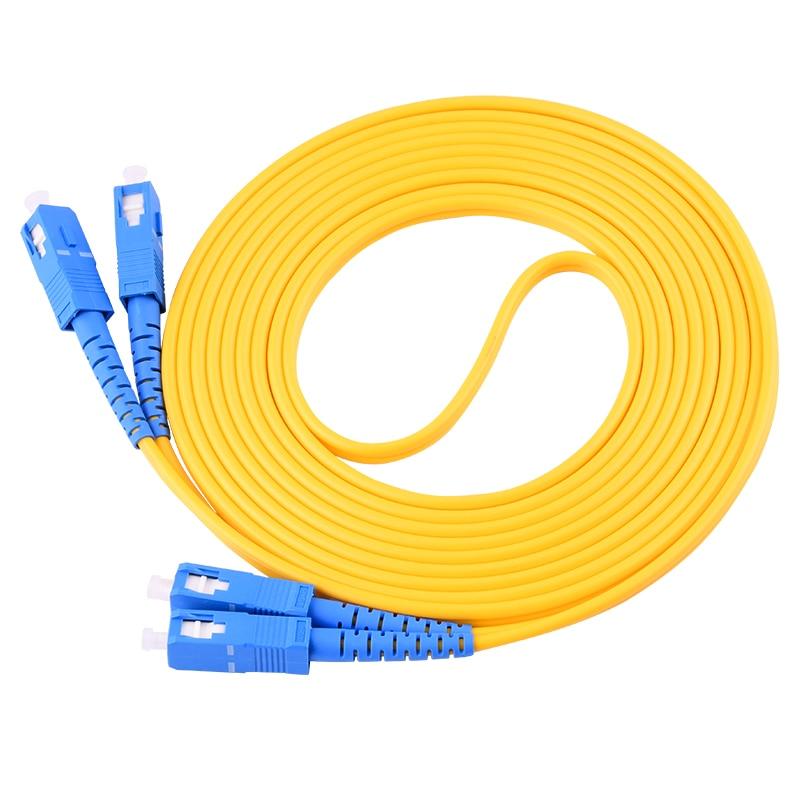 10 шт. SC UPC 3 метра/5 метров/10 метров 9/125 дуплексный одномодовый волоконно-оптический патч-корд кабель
