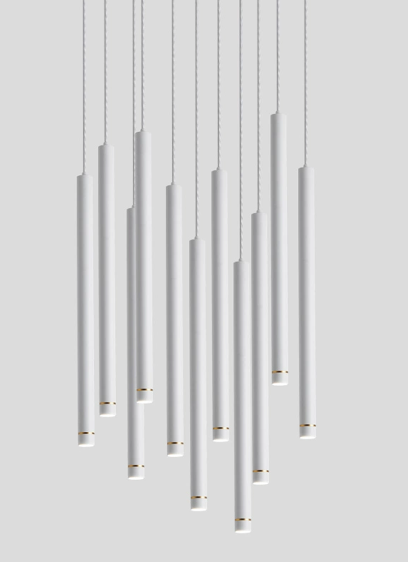Dimmable LED Pendant Lamp Long Tube Lamp Island Dining Room Shop Bar Decoration Cylinder Pipe Pendant Lights Cord Pendant Lamps