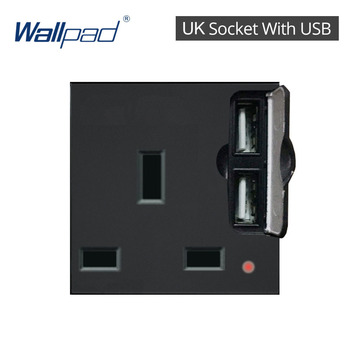 DIY EU UK Wall Socket Push Button Switch Electrical Outlet Black Function Key Only Free DIY 55*55mm S6 Series Wallpad 13