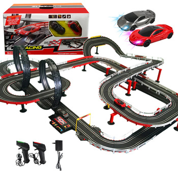 Electric Track Railway Remote Control Car Train Toys Autorama Racing Track Circuit Voiture Slot Car Railway Toys For Boy Kids genuine rc car toys high speed track 1 43 electric wired remote racing car toys learning diy building creative track toy for boy