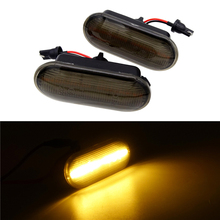1 Pair LED For VW T5 T6 Golf Jetta Bora Front Wing Fender Sequential Side Indicator Dynamic Turn Signal Sporty Styling Lamp