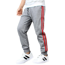 5-15 years old child sports pants boy girl clothes pure cotton Korean version with side line spring autumn Quality Kids clothing
