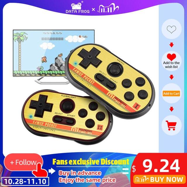 Data Frog Mini consola de videojuegos para FC30 Pro, consola de videojuegos portátil de 8 bits con 260 juegos clásicos, compatibilidad con salida de TV