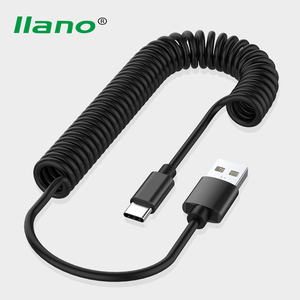 Micro USB Type C 8 Pin Cable Retractable Spring Cable For iPhone X Samsung S9 Fast Charging Charger Data Cable Wire Cord Adapter