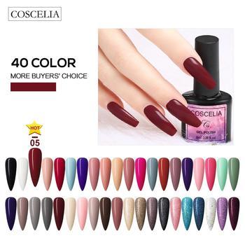 COSCELIA 40pcs/set Nails Gel Nail Polish Gel Polish Set For Manicure Semi Permanent UV Gel Varnish Hybrid Nail Art Off 2020 Top недорого