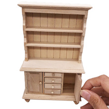 New Miniature Chinese Classical Wardrobe Mini Cabinet Bedroom Furniture Kits Home & Living For 1/12 Scale Dollhouse