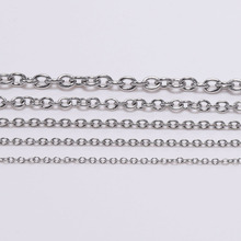 5M/lots 1.2 1.6 2mm Stainless Steel Chain Necklace Bulk Link Chains For Necklaces Jewelry Making Findings Accessories Supplies 5m lot 1 5mm metal ball bead chains 7colors ketting kettingen bulk bulk iron chains for diy jewelry accessories