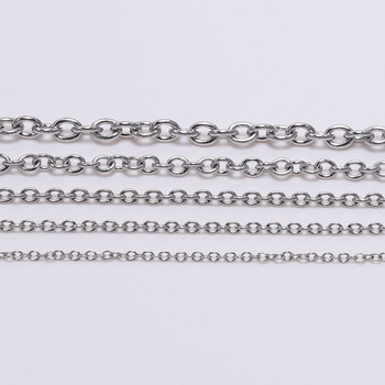5M/lots 1.2 1.6 2mm Stainless Steel Chain Necklace Bulk Link Chains For Necklaces Jewelry Making Findings Accessories Supplies цена 2017